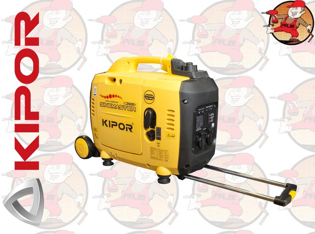 IG2600H Agregat prądotwórczy walizkowy 2 3kVA 2 6kVA 12V/5 0A ( z KG171)  KIPOR IG 2600 H